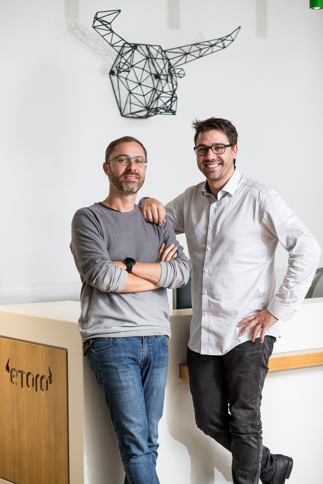 Ronen and Yoni Assia, co-founders of eToro, a global multi-asset investment platform, with 11 million registered